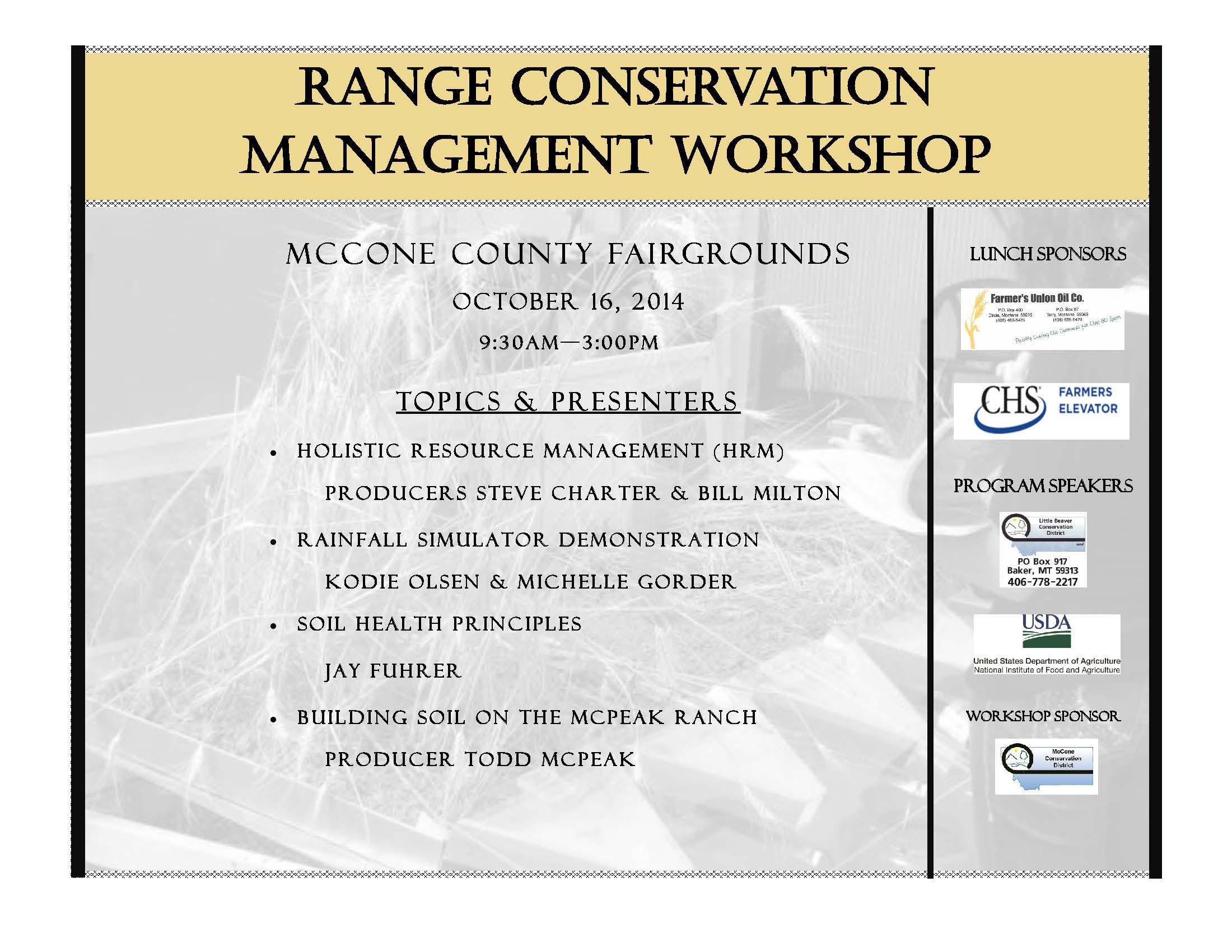 Montana mccone county brockway - October 16th Workshop In Circle