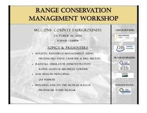 Range Conservation Workshop Flyer