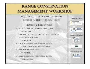 Range Workshop Flyer