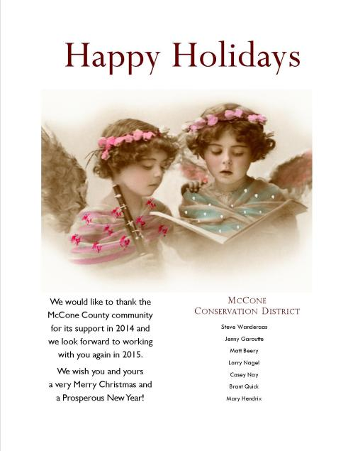 Happy Holidays from the Conservation District