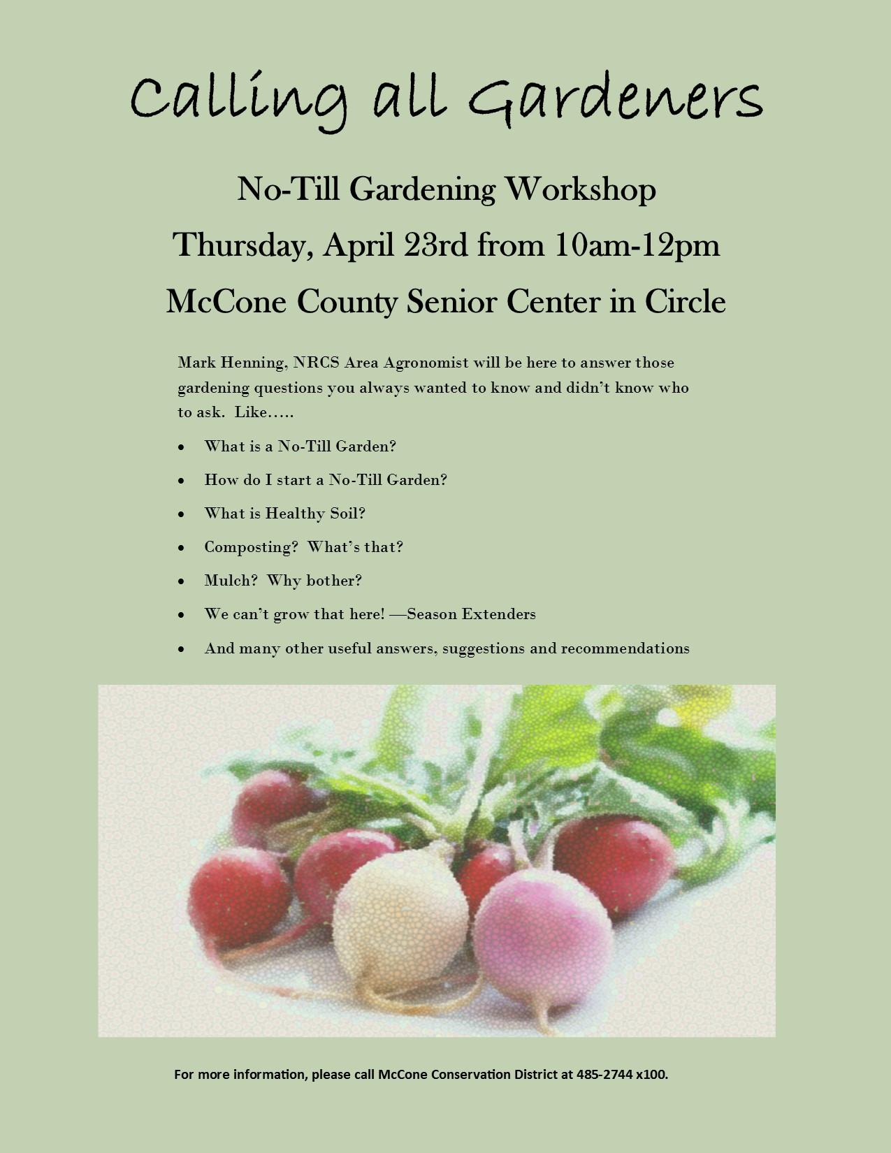 Montana mccone county circle - No Till Gardening Workshop