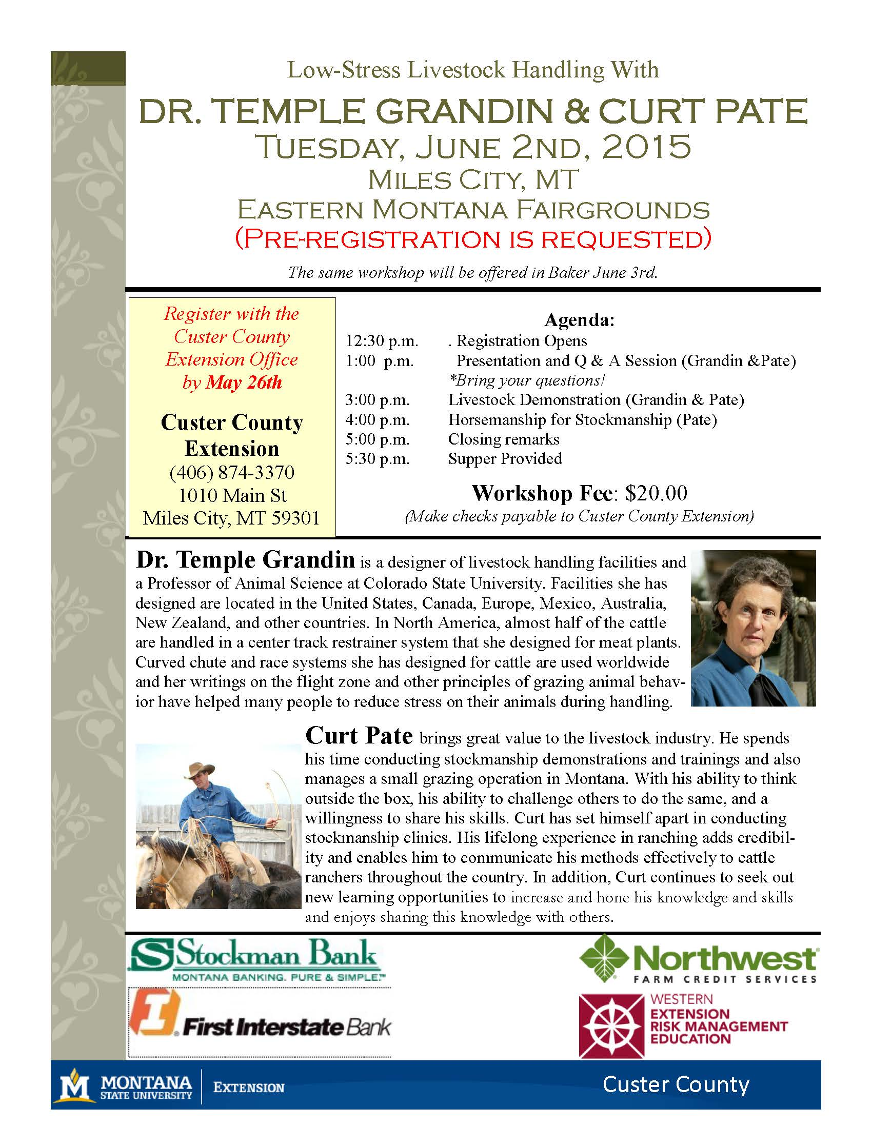 Montana mccone county brockway - Low Stress Livestock Handling With Dr Temple Grandin Curt Pate