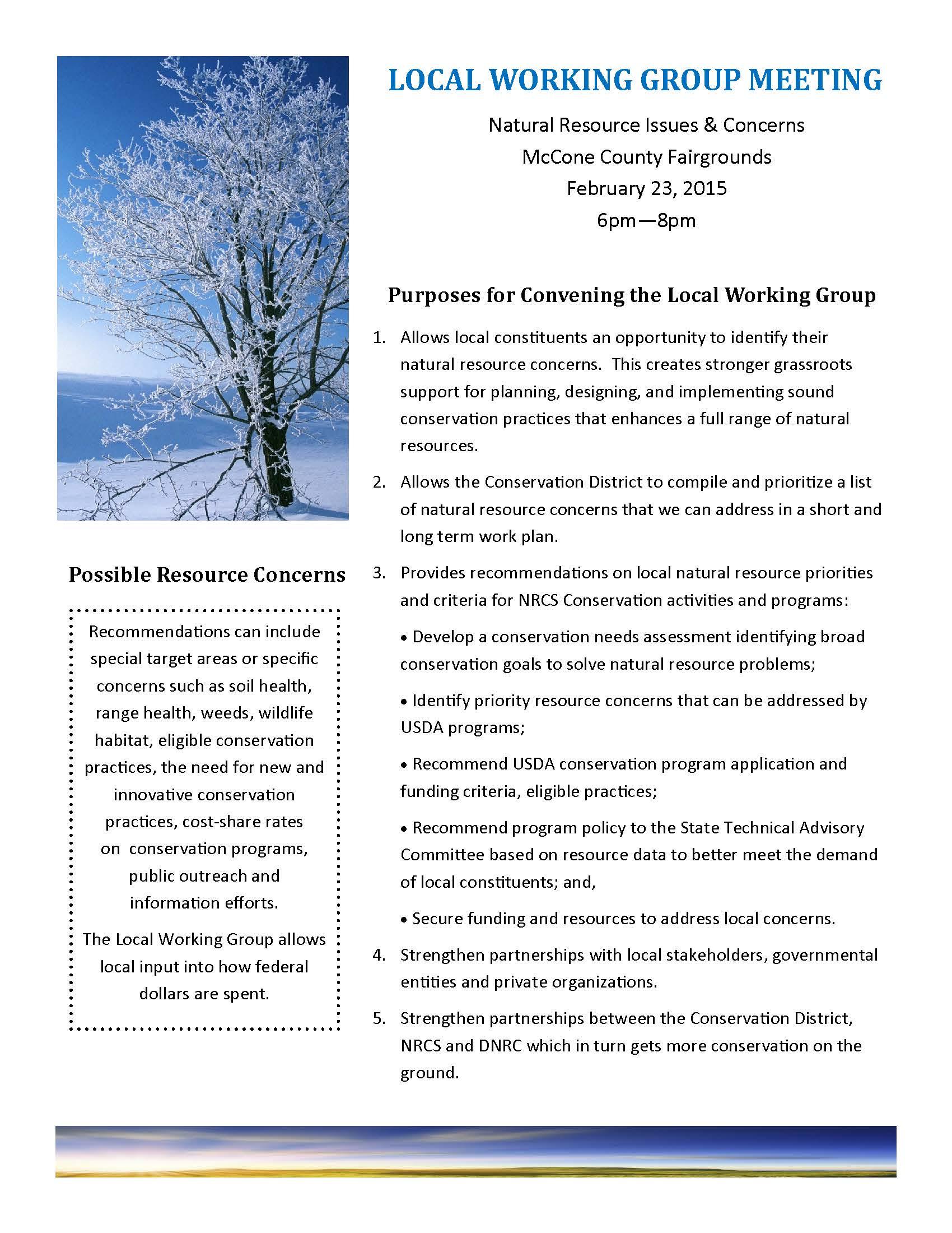 Montana mccone county circle - Lwg Info Sheet