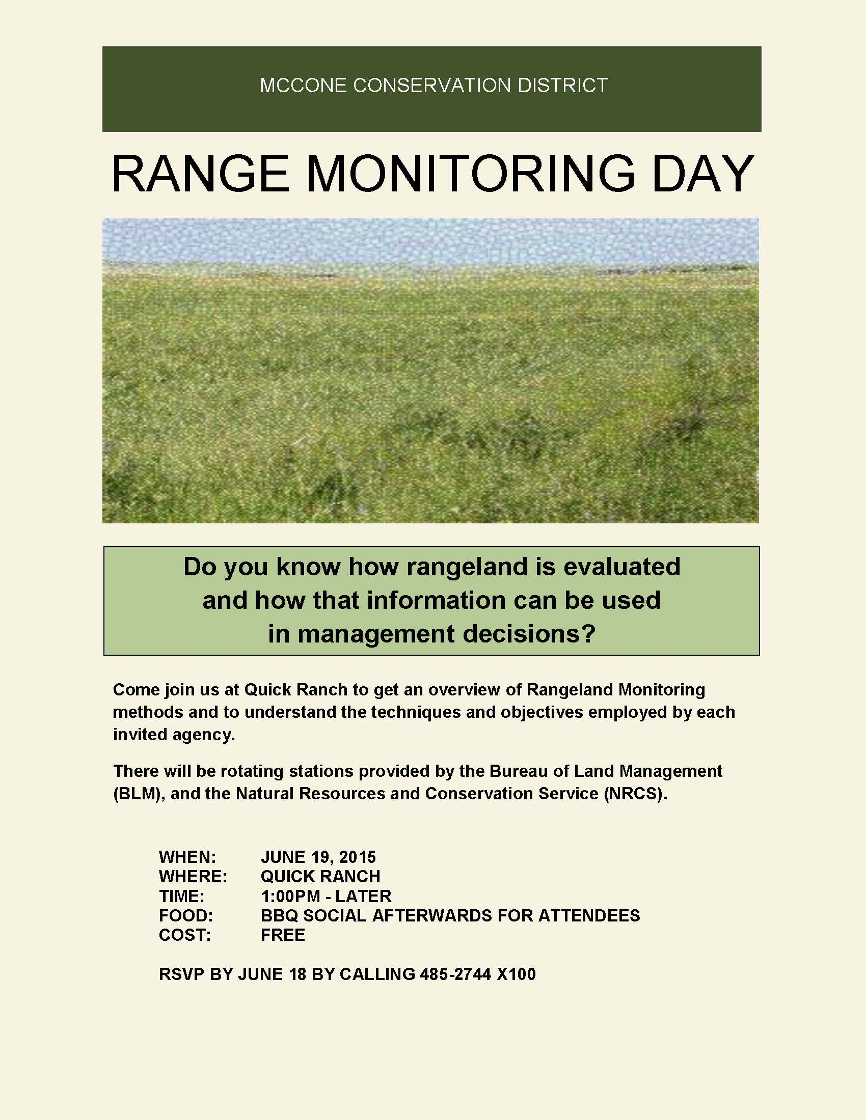 Montana mccone county brockway - Range Monitoring Day2