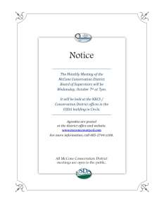 October Meeting Notice