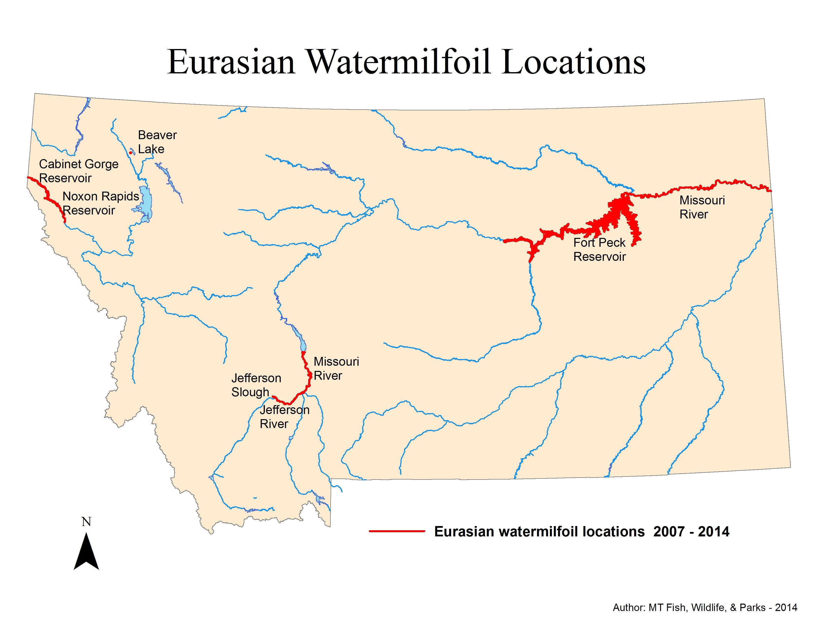 Montana mccone county circle - Eurasianwatermilfoilmap Eurasianwatermilfoil