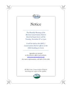 December Meeting Notice
