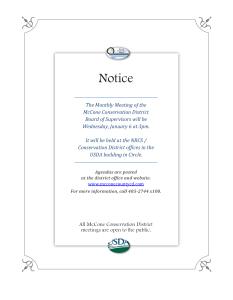 January Meeting Notice