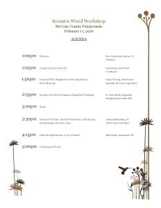 Invasive Weed Workshop Agenda