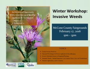 Invasive Weed Workshop Flyer